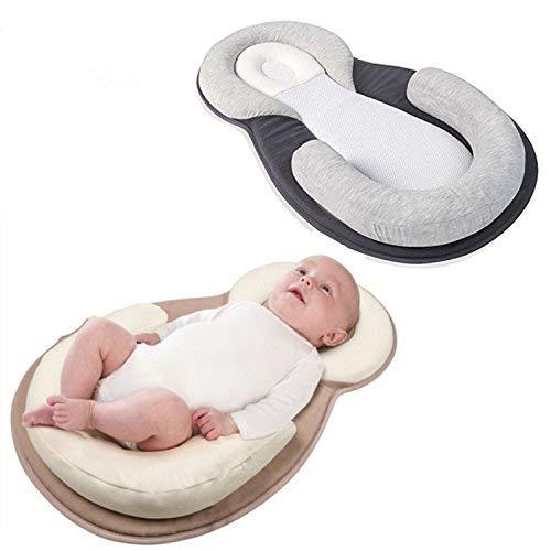 AMZT – Baby Bed Mattress - Newborn Sleep Positioner Infant Body Support Crib Bumper Nursing Pillow Anti Roll Sleeping Cushion (Beige) by AMZT (Image #2)