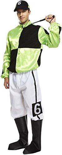 Henbrandt Mens Jockey Fancy Dress Costume STD -
