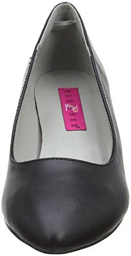 blk Faux Noir Bout Bpu Label Kitten Pleaser Escarpins Leather Femme Fermé Pink 01 8zxwqvp