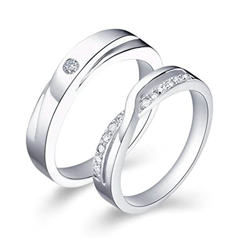 [KnBoB Fashion Jewelry Silver Plated Women's Ring CZ Round Wedding Bands Infinity Couples Rings Size:] (Punisher Costumes For Sale)