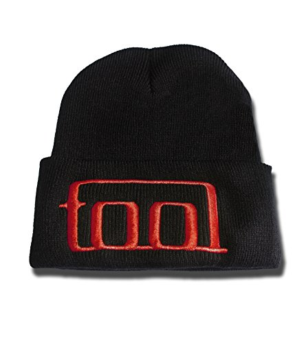 JRICK Tool Rock Band Logo Beanie Fashion Unisex Embroidery Beanies Skullies Knitted Hats Skull Caps - Black/Red