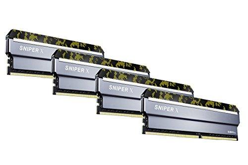 G.SKILL F4-3200C16Q-32GSXKB Sniper X Series 32GB (4 x 8GB) 288-Pin PC4-25600/DDR4 3200 MHz Desktop Memory