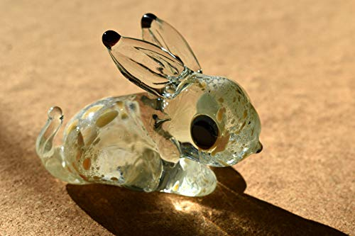 Glass Bunny - Cute Glass Animals Glass Bunny Figurine from Glass Menagerie