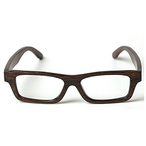 Marco Adult de gafas alta los Marco marco hombres de cuadros primavera los calidad artístico de hechos de clásico gafas Eyewear de de Marco bambú madera del la mano de ocio vidrios los a vidrios de de r1wrZp