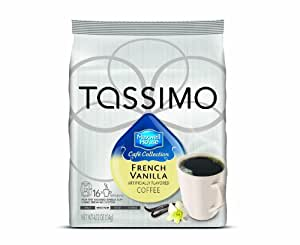 Maxwell House Cafe Collection French Vanilla Coffee (Medium), 16-Count T-Discs for Tassimo Coffeemakers (Pack of 2)