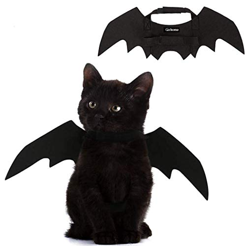 Gizhome Halloween Christmas Pet Bat Wings Cat Dog Bat Costume for Cosplay, Christmas Halloween -