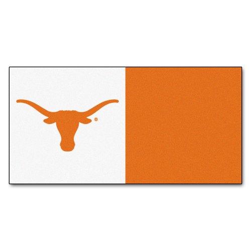 (FANMATS NCAA University of Texas Longhorns Nylon Face Team Carpet Tiles)