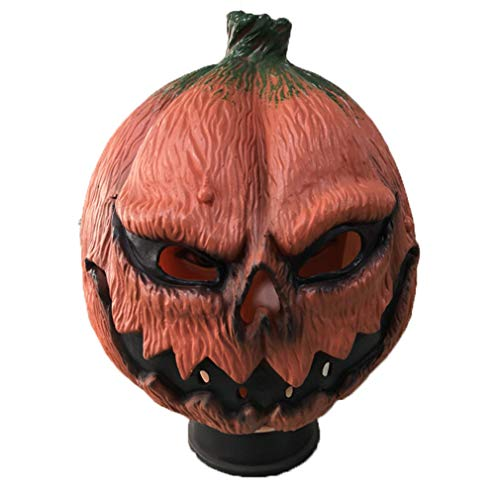 AND Carnival Halloween New Pumpkin Man Mask Birthday Party Bar Party Scary Facebook DIY Props -