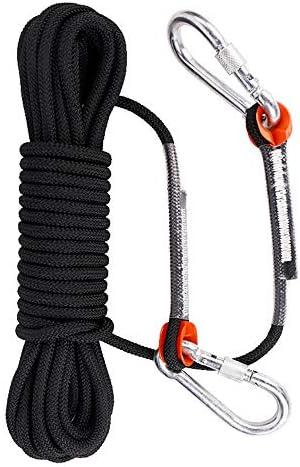 10ミリメートルクライミングロープ、アウトドアクライミングロープ安全ロープクライミングレスキューロープダウンヒル機器。,30m