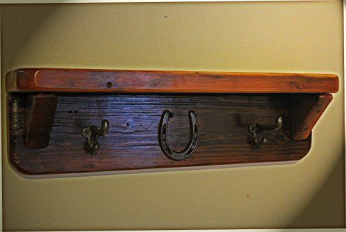 Rustic Western Decor.The Cowpuncher Shelf and Coat Rack
