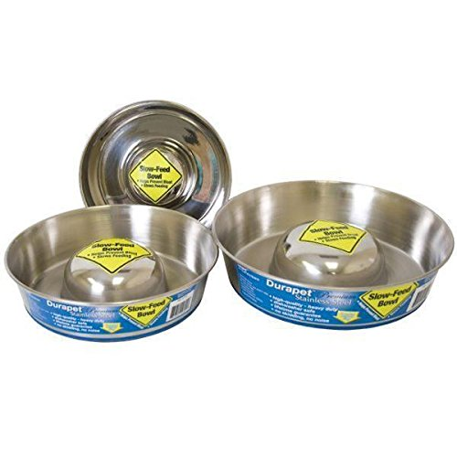 Durapet Slow Feed Dog Bowl - S - M - L - Slow feed bowls are healthy for dogs (Durapet Rubber Bowl)