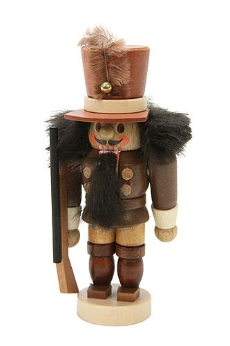 German Christmas Nutcracker Mini Soldier natural colors - 10,5 cm / 4 inch - Christian Ulbricht by Authentic German Erzgebirge Handcraft