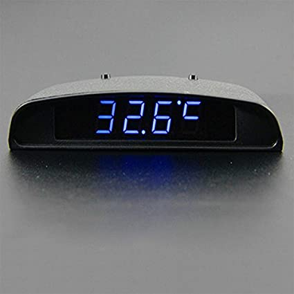 Sedeta 12V 3 In 1 Car Auto Vehilce Digital Clock Thermometer Battery Volt Monitor Meter Voltmeter