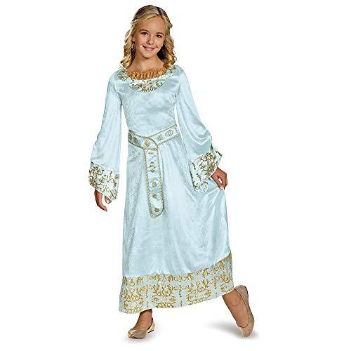 (Disney Maleficent Movie Aurora Girls Blue Dress Deluxe Costume,)