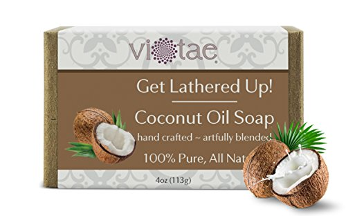 Vi-Tae Organic Coconut Oil Soap, 4 oz. (Soap Oil Coconut Bar)