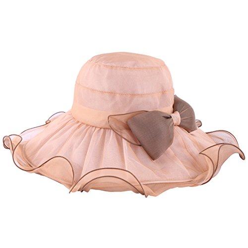 Lady Sombrero Wyyy Grande Sol Bean De Protección Solar Transpirable color Cian Sand Plegable Flounced ZSfwfqn5xC