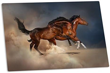 Schreibunterlage Galoppierende Pferde 60cm x 40cm (Büro, Kinder)