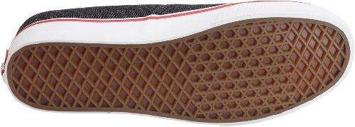 Vans Authentieke Skateschoen, (denim) Zwart / Echt Wit, Maat 10,5 Heren / 12 Dames