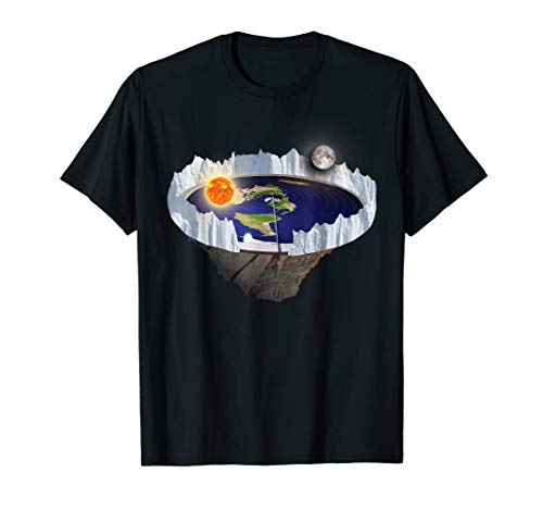Flat Earth with Ice Wall shirt (Movement Of The Moon Around The Earth)
