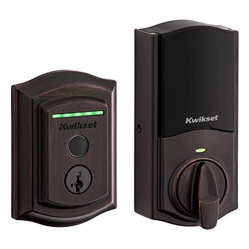 Kwikset Halo Touch Traditional Arched Wi-Fi Fingerprint Smart Lock No Hub Required Featuring SmartKey Security in Venetian Bronze (99590-002)
