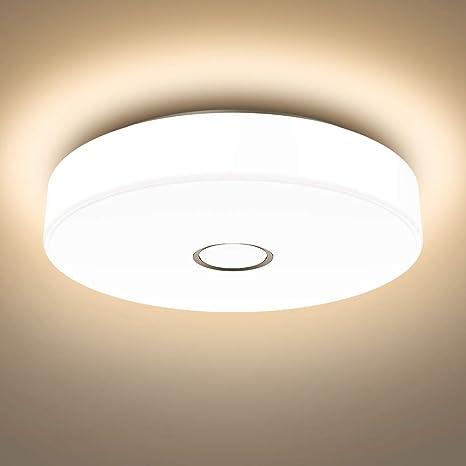 Onforu 18W LED Lámpara de Techo Baño, IP65 Impermeable LED Plafón 1600LM para Salón Cocina Dormitorio Pasillo, Igual al 180W Luz Interior Techo ...