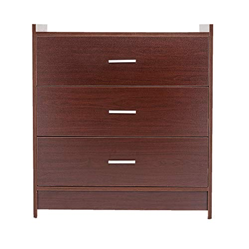 Little-Tomato 3 Drawer Chest 5 Drawer Chest Storage Dresser Cabinet Nightstand (3-Drawer, Espresso)