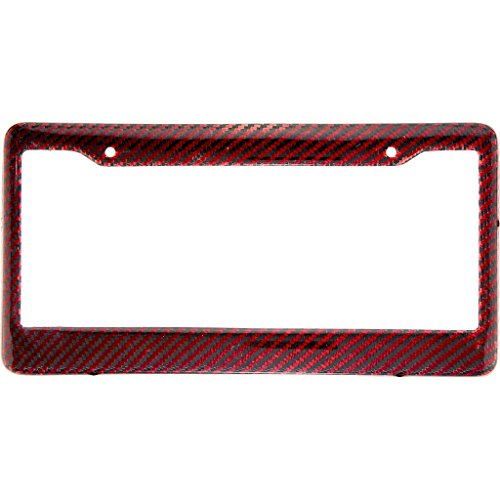- BLVD-LPF OBEY YOUR LUXURY  Real 100% Red Carbon Fiber License Plate Frame Tag Cover FF - C with Matching Screw Caps - 1 Frame