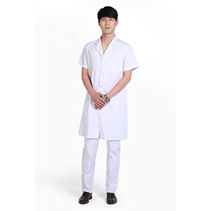 ESENHUANG Lab Coat Medical Uniform Physician Services Uniformes Hospital: Amazon.es: Ropa y accesorios
