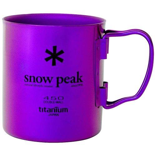 Snow Peak Titanium Double Wall Cup Purple (Snow Peak Titanium Folding Cup)