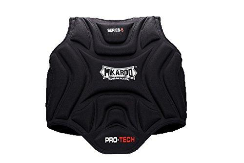 Mikardo Pro Techシリーズ5 Martial Arts MMAムエタイキックボクシングボクシング胸ボディガードリブシールドプロテクター B079M8RMQS  S/M