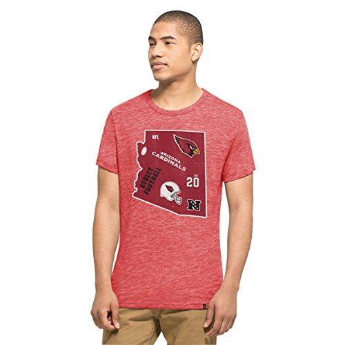 '47 NFL Arizona Cardinals Men's Tri-State Tee, X-Large, Cranberry