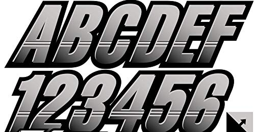 paintball number stickers - 6