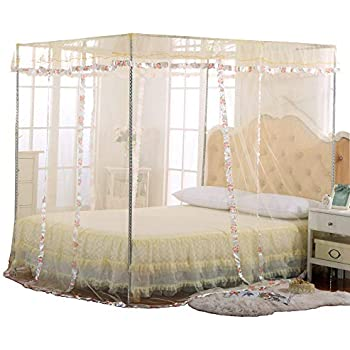 Jqwupup luxury mosquito net bed canopy 4 - Canopy bed ideas for adults ...