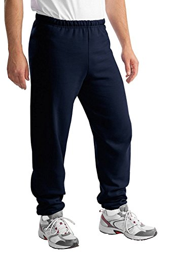 Jerzees Mens NuBlend Sweatpant, Small, Navy