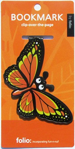 (Butterfly Bookmarks (Clip-over-the-page) Set of 2 - Assorted colors)