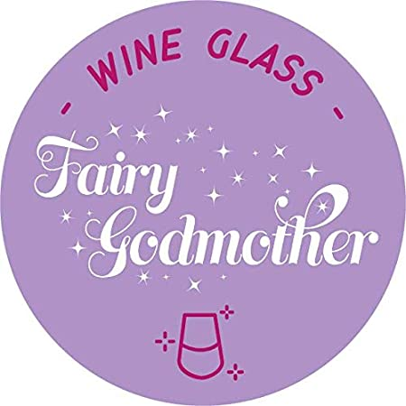 Stemless Wine Glass National Etching NE-C8303-fairy Fairy Godmother