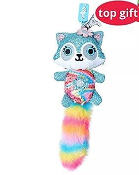 5899a27fb Smiggle Keyring Bag Charm - Fluffy Sparkle Kitty (Blue): Amazon.co ...