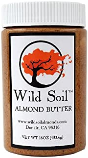 product image for Wild Soil Almond Butter, Distinct and Superior to Organic, Patent Pending Technology that Regenerates Soil, Herbicide Free, Beyond Beef High Protein, Probiotic, Unsalted, No Additives, 16oz Jar