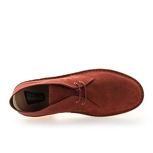 Clarks Terracotta Stivali Rosso Boot Originals Uomo Chukka Desert rFn0xrZUC