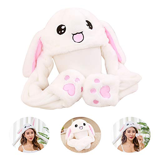 Plush Bunny Animal Hat Ears Up and Down ()