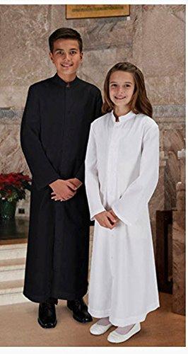 Children's White Altar Server Cassock. Size 17. The Perfect Garment for Altar (Server Cassock)