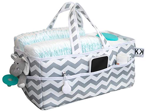 Diaper Caddy Organizer from Kiddy Kaddy by Bubble Bug. Premium Diaper Tote and Nursery Storage Perfect for Diapers and Wipes, Books, Toys and More. at Home and On The Go.