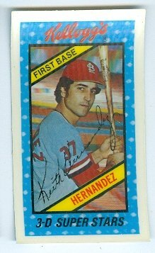 1980 World Series Mvp (Keith Hernandez baseball card (St Louis Cardinals NL MVP World Series) 1980 Kellogs 3D #43 Mini Curved)