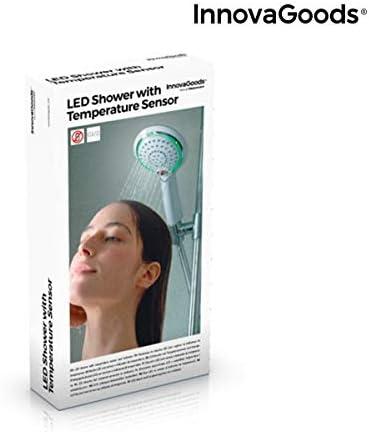 Douche LED avec capteur et indicateur de temp/érature.