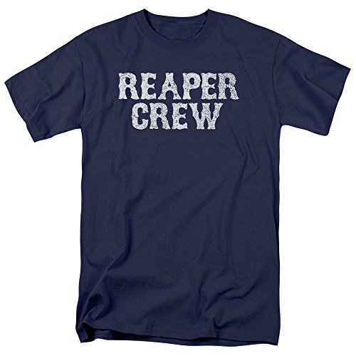 Sons of Anarchy Reaper Crew Mens Short Sleeve Shirt Navy XL