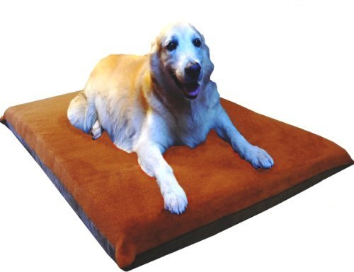 ehomegoods 41X27 X4 Sudan Brown Orthopedic Waterproof Memory Foam Pet Pad Bed for Medium Large dog crate size 42″X28″ with 2 external covers Review