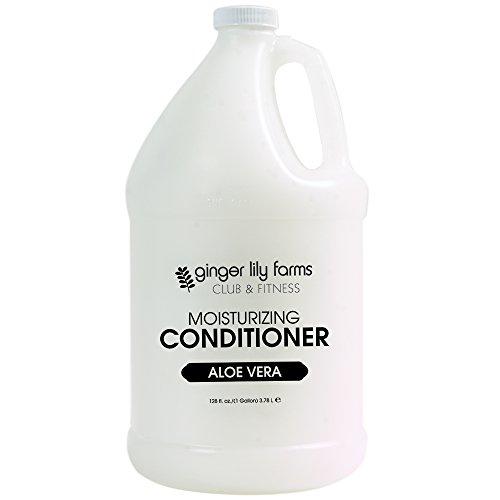 Ginger Lily Farms Club & Fitness Aloe Vera Moisturizing Conditioner, 100% Vegan, Paraben, Sulfate, Phosphate, Gluten & Cruelty-Free, 1 gallon ()