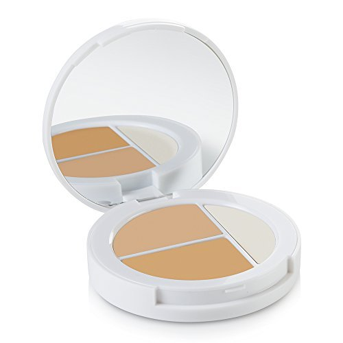 - Sheer Cover Studio - Conceal and Brighten Highlight Trio - Two-Toned Concealers - Shimmering Highlighter - Light/Medium Shade - With FREE Concealer Brush - 3 Grams