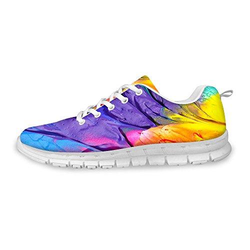 FOR U DESIGNS Fashion Flex Unisex Men/Women Casual Mesh Comfort Train Running Shoes