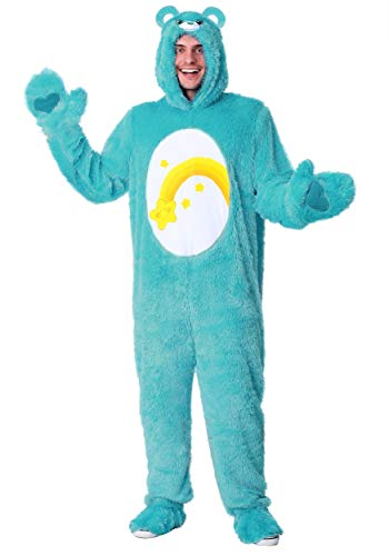 Care Bears Adult Wish Bear Costume Small Blue]()